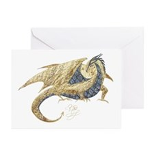 Gold Dragon Greeting Cards (Pk of 10)