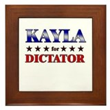 KAYLA for dictator Framed Tile