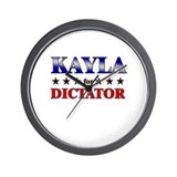 KAYLA for dictator Wall Clock