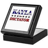 KAYLA for dictator Keepsake Box
