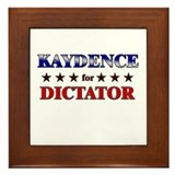 KAYDENCE for dictator Framed Tile