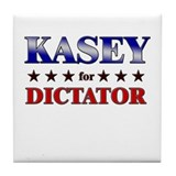 KASEY for dictator Tile Coaster