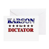 KARSON for dictator Greeting Card