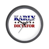 KARLY for dictator Wall Clock