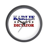 KARLIE for dictator Wall Clock