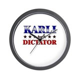 KARLI for dictator Wall Clock