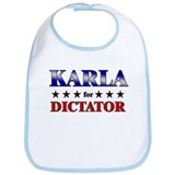 KARLA for dictator Bib