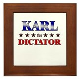 KARL for dictator Framed Tile
