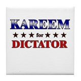 KAREEM for dictator Tile Coaster