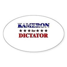 KAMERON for dictator Oval Decal