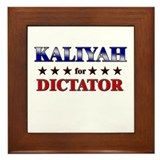 KALIYAH for dictator Framed Tile