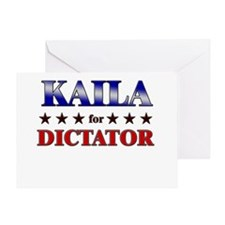 KAILA for dictator Greeting Card