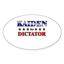 KAIDEN for dictator Oval Decal