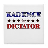 KADENCE for dictator Tile Coaster