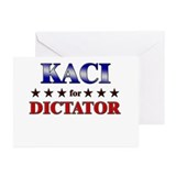 KACI for dictator Greeting Cards (Pk of 10)