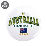 "AUS Australia Cricket 3.5"" Button (10 pack)"