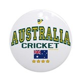 AUS Australia Cricket Ornament (Round)