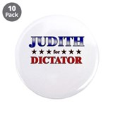 "JUDITH for dictator 3.5"" Button (10 pack)"