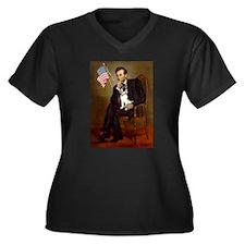 Lincoln / Rat Terreier Women's Plus Size V-Neck Da