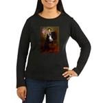 Lincoln / Rat Terreier Women's Long Sleeve Dark T-