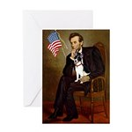 Lincoln / Rat Terreier Greeting Card