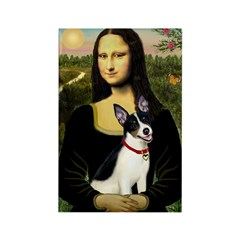 Mona / Rat Terrier Rectangle Magnet
