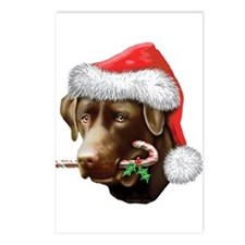 Chocolate Lab Christmas Postcards (Package of 8)