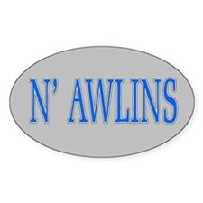 N'Awlins Street Tiles Oval Decal