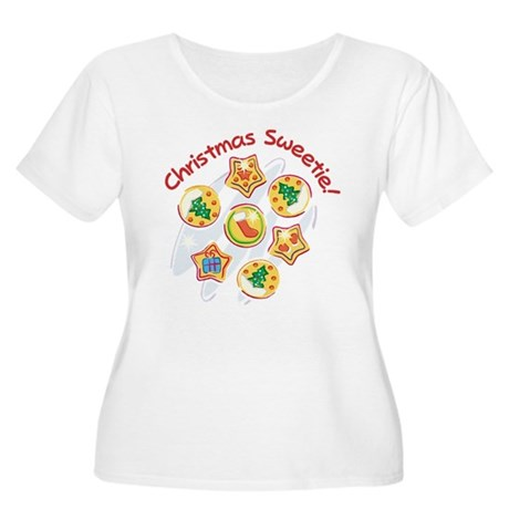 CHRISTMAS SWEETIE! Women's Plus Size Scoop Neck T-