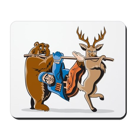 Anti-Hunting Wild Animal Revenge Mousepad