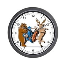 Anti-Hunting Wild Animal Revenge Wall Clock
