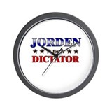JORDEN for dictator Wall Clock