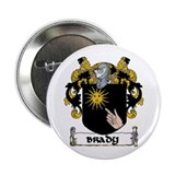 "Brady Coat of Arms 2.25"" Button (10 pack)"