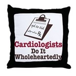 Funny Doctor Cardiologist Throw Pillow