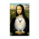 Mona / Pomeranian(w) Sticker (Rectangle)
