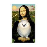 Mona / Pomeranian(w) Sticker (Rectangle)
