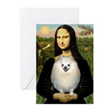 Mona / Pomeranian(w) Greeting Cards (Pk of 20)