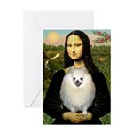 Mona / Pomeranian(w) Greeting Card