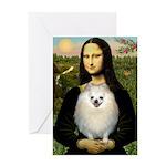 Mona / Pomeranian(w) Greeting Card