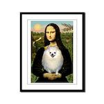 Mona / Pomeranian(w) Framed Panel Print