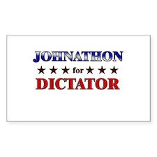 JOHNATHON for dictator Rectangle Decal
