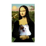 Mona / Pomeranian(r&w) Sticker (Rectangle)