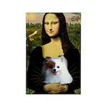 Mona / Pomeranian(r&w) Rectangle Magnet (10 pack)