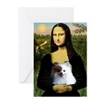 Mona / Pomeranian(r&w) Greeting Cards (Pk of 10)