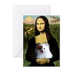 Mona / Pomeranian(r&w) Greeting Cards (Pk of 10)