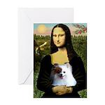 Mona / Pomeranian(r&w) Greeting Card