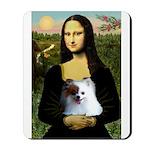 Mona / Pomeranian(r&w) Mousepad
