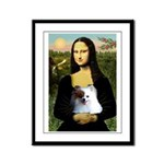 Mona / Pomeranian(r&w) Framed Panel Print