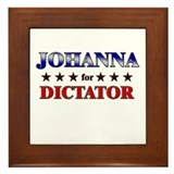 JOHANNA for dictator Framed Tile