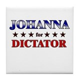 JOHANNA for dictator Tile Coaster